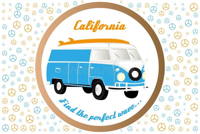 Kampeerauto-bestelwagen illustratie vector illustratie