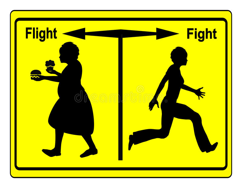 Kampf-Übergewicht stock abbildung