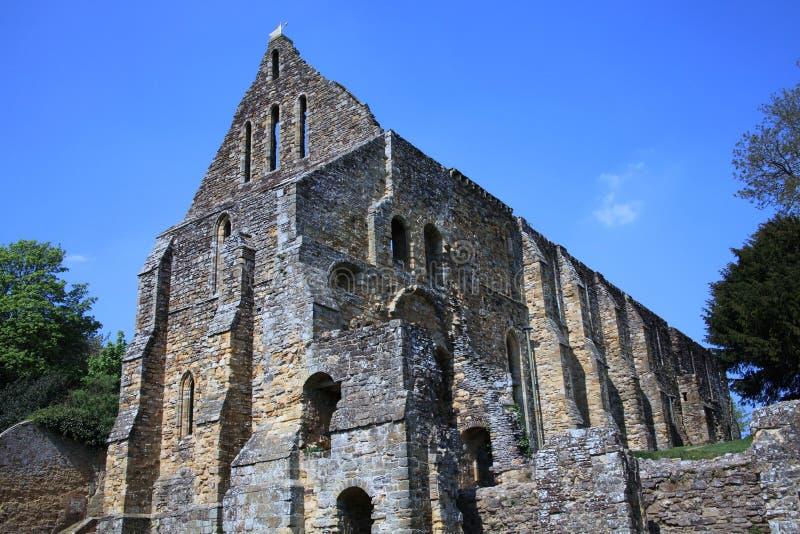 Kampf-Abtei am Kampf nahe Hastings stockfotografie