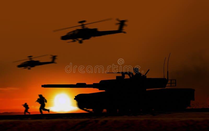 Kampf-Angriff Abrams-Behälter lizenzfreie abbildung