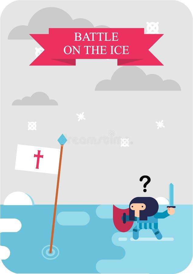Kampf auf dem Eis 1242 stock abbildung