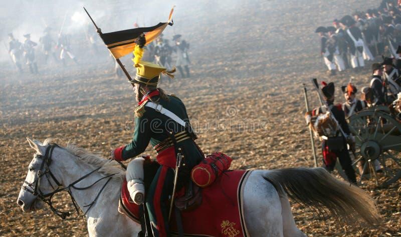 Kampf bei Austerlitz 2009 lizenzfreies stockbild
