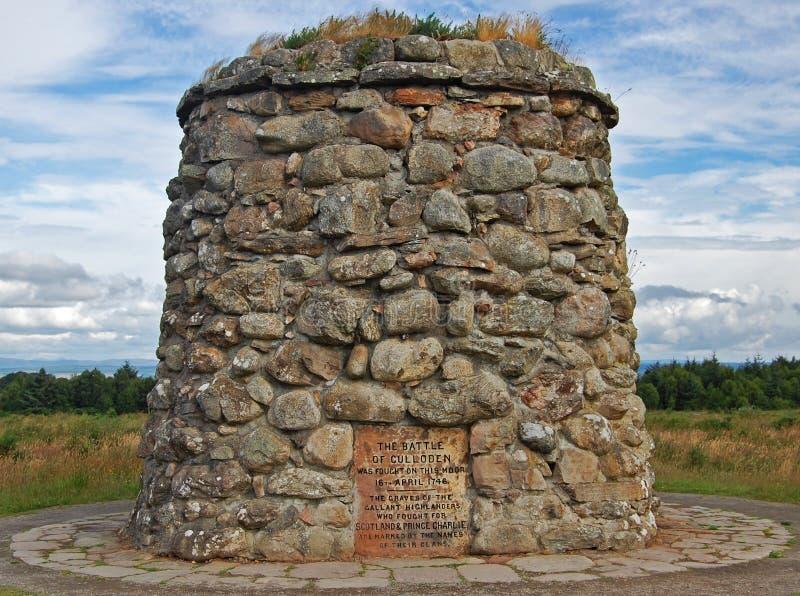 Kampf-Denkmal bei Culloden, 1745 lizenzfreies stockbild