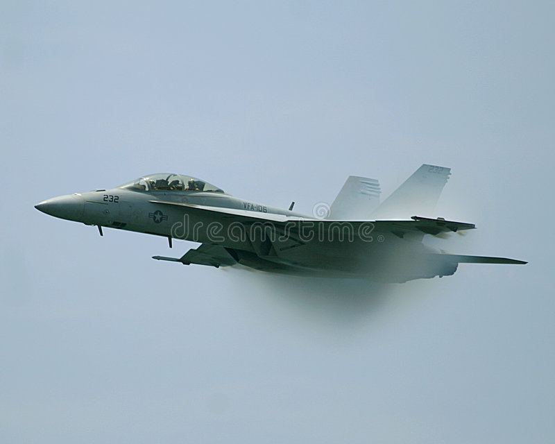 Kampfflugzeug der Hornisse-F/A-18 stockbilder