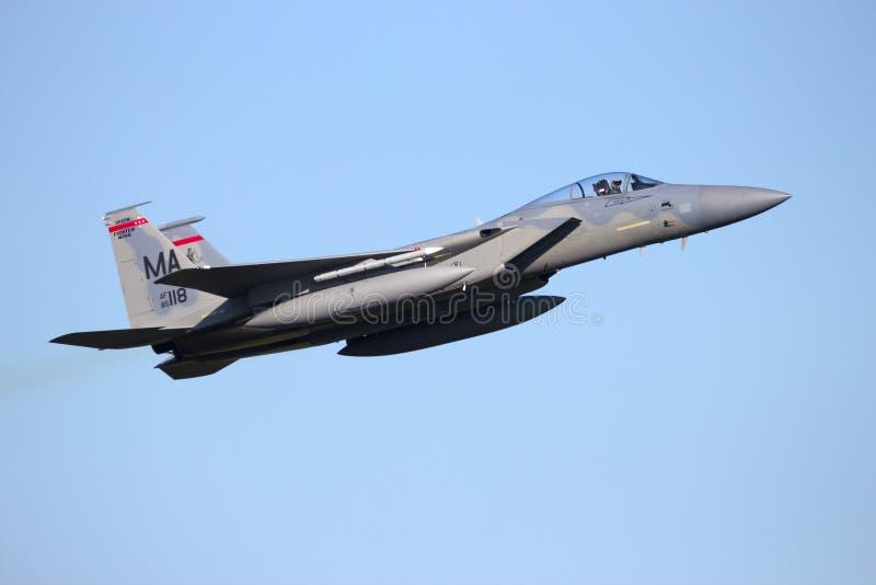 Kampfflugzeug der US-Luftwaffe F-15 lizenzfreie stockfotografie