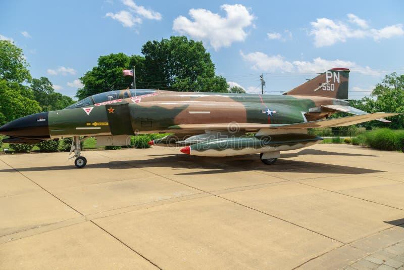 Kampfflugzeug McDonnell Douglass F4-D Phantom-II lizenzfreies stockbild