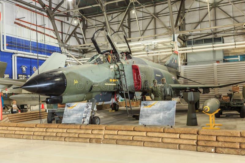 Kampfflugzeug McDonnell Douglass F4 Phantom-II stockbilder