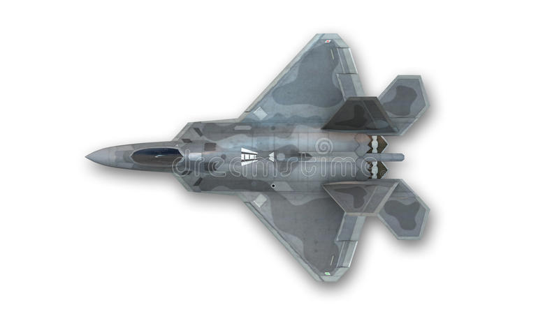 Kampfflugzeug, Militärfläche, Draufsicht stockfotografie