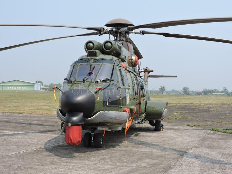 Kampfhubschrauber EC 725 AP Caracal stockfotos