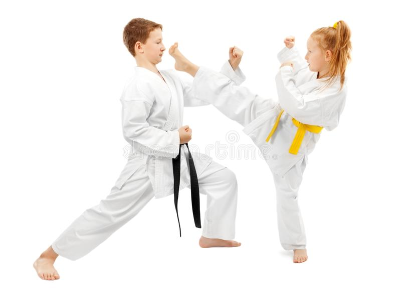 Kampfkünste sparring lizenzfreies stockfoto