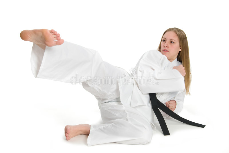 Kampfkunst-Frau stockfoto