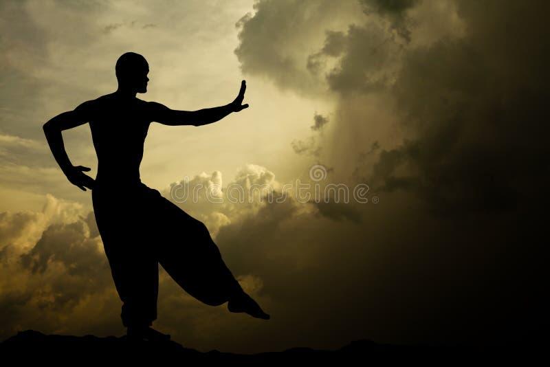 Kampfkunst-Meditation-Hintergrund lizenzfreie stockbilder