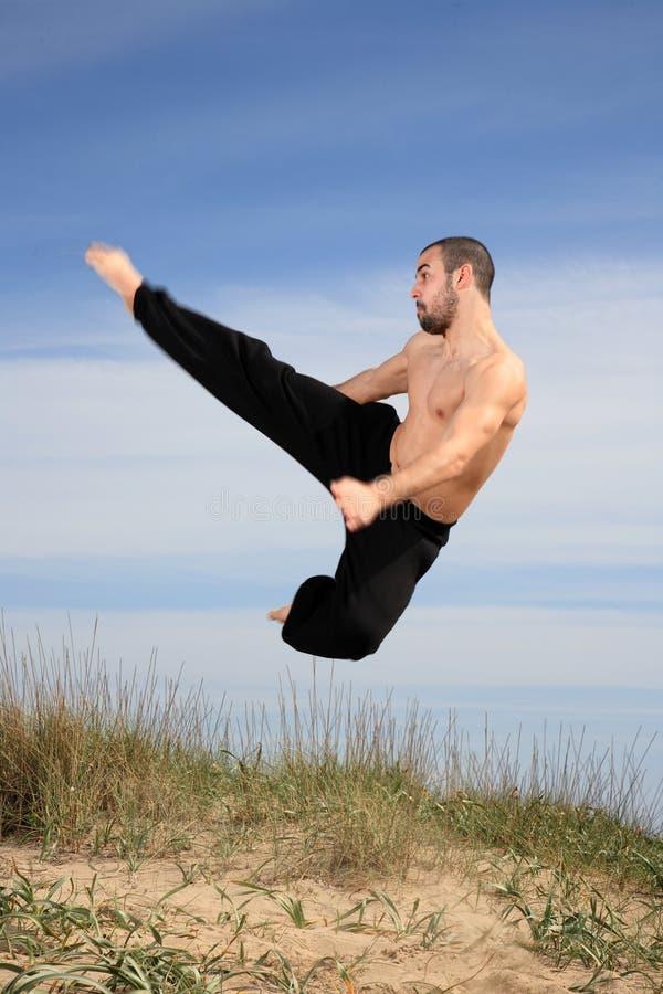 Kampfkunstausbilder lizenzfreie stockfotos
