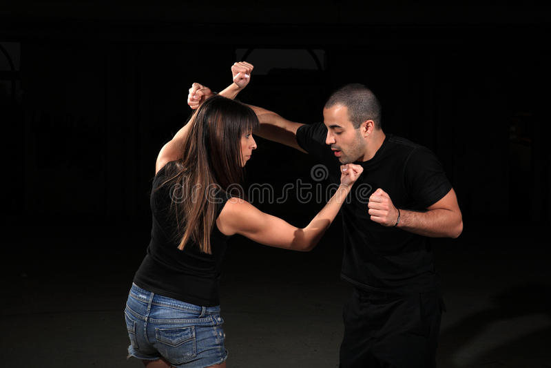 Kampfkunstausbilder lizenzfreies stockfoto