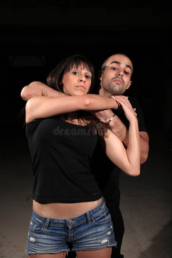 Kampfkunstfraulehrer stockfoto