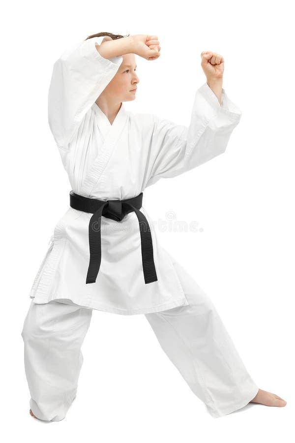 Kampfkunstjunge lizenzfreie stockfotos
