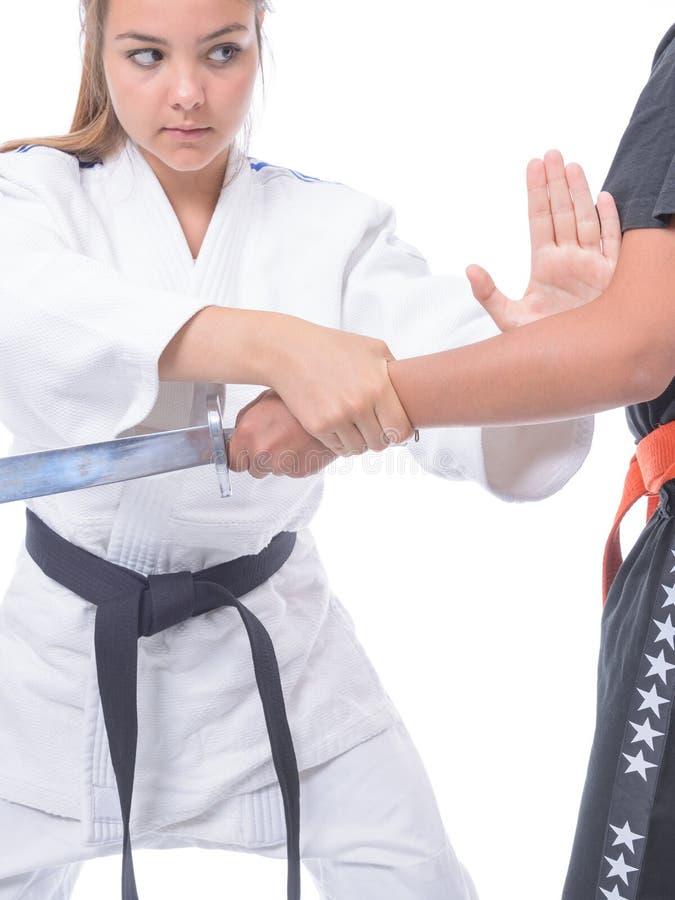 Kampfkunstselbstverteidigung lizenzfreie stockfotografie