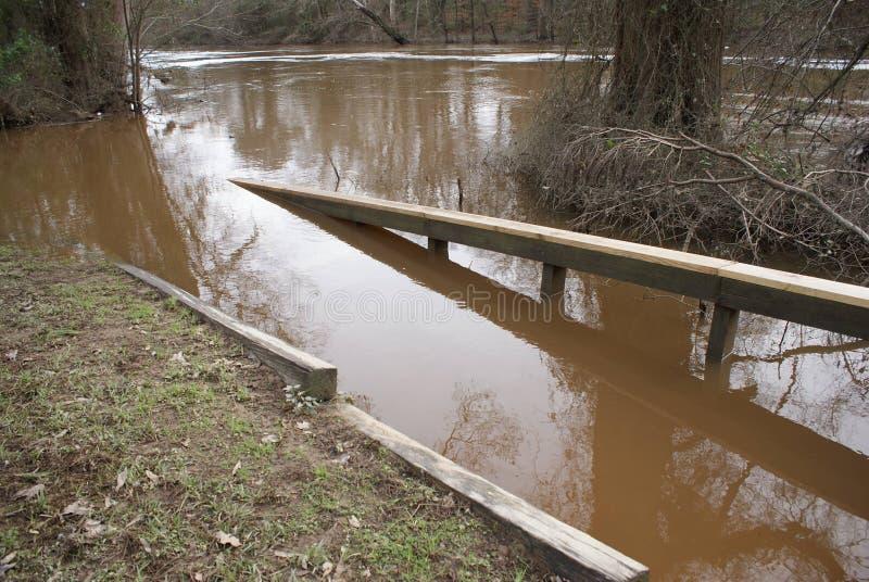 Kampfpark Rocky Mount North Carolina-Überschwemmung stockbild