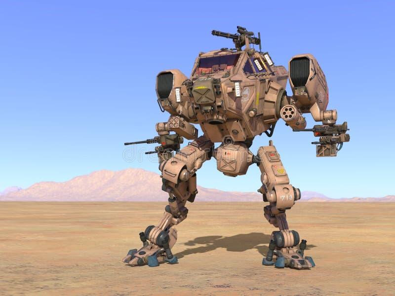 Kampfroboter lizenzfreie abbildung