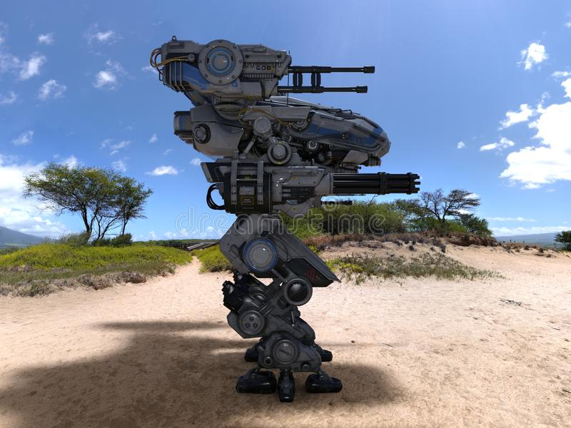 Kampfroboter lizenzfreie stockfotografie