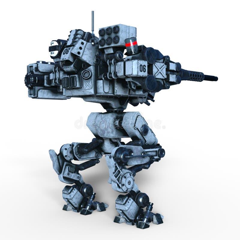 Kampfroboter stock abbildung