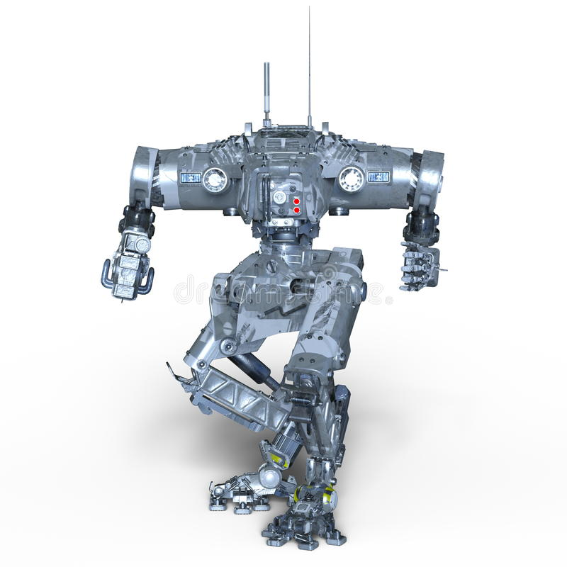 Kampfroboter lizenzfreie stockfotos