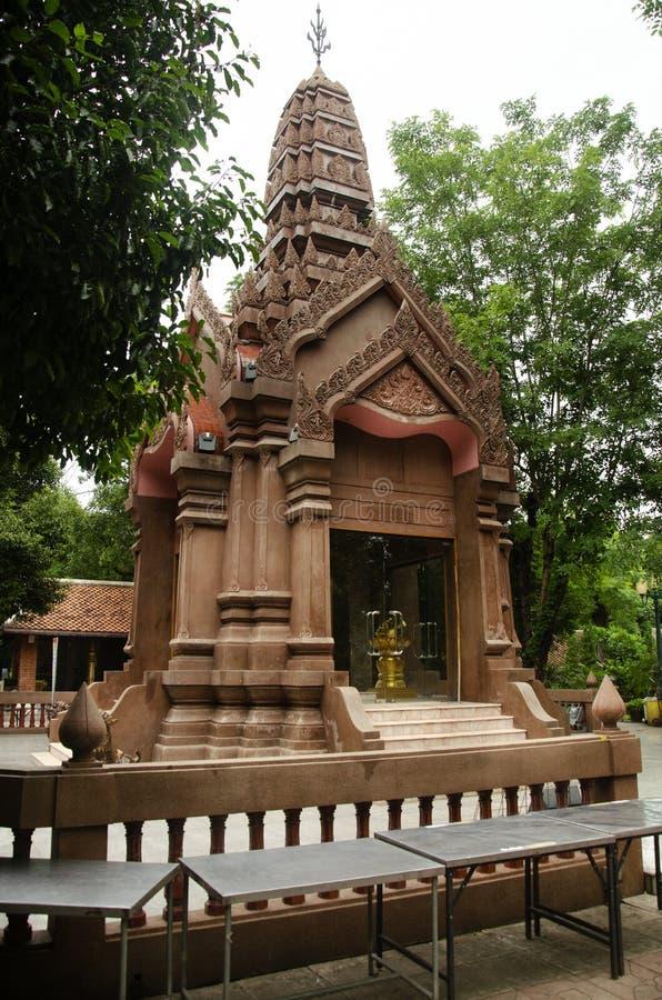 Kamphaengphet市在中心城市的柱子寺庙在Kamphaeng Phet,泰国 库存照片