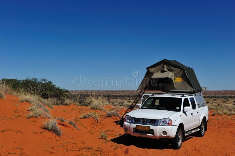 Kampieren in Namibia lizenzfreie stockfotos