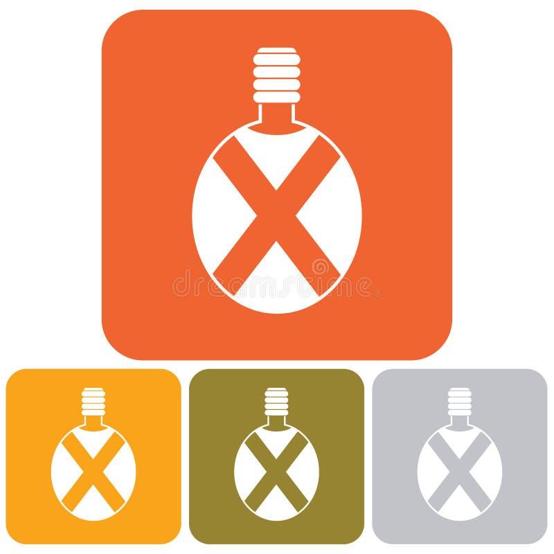 Kampierende Flaschenvektorikone stock abbildung