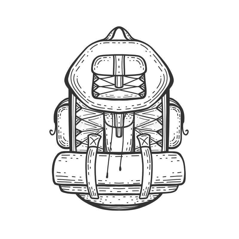 Kampierender Rucksack Reisetasche Wandern der Taschenikone vektor abbildung