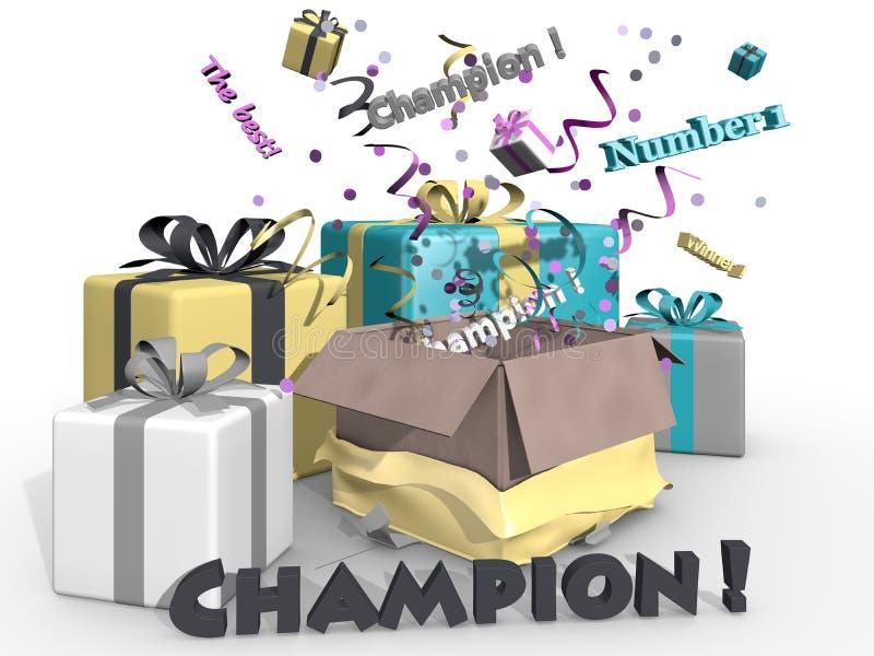kampioen royalty-vrije illustratie