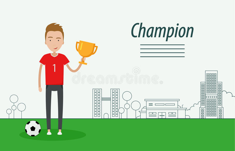 kampioen stock illustratie