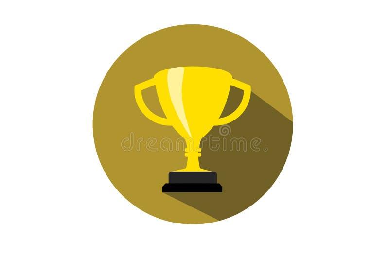 Kampioen van de trofee de Gouden vlakke Kop stock illustratie
