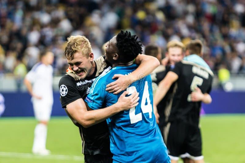 """Kampioenen AFC Ajax van Kyiv Dynamo voetbalwedstrijd Liga †het """", Augustus royalty-vrije stock foto"""
