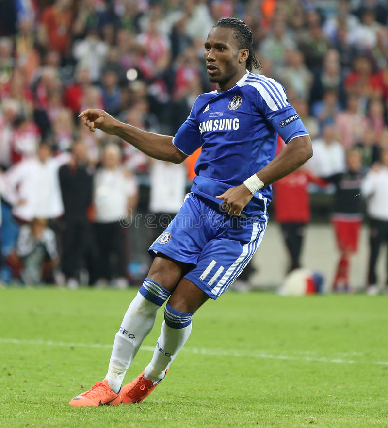 2012 kampioenenliga Definitieve Chelsea Training stock foto's
