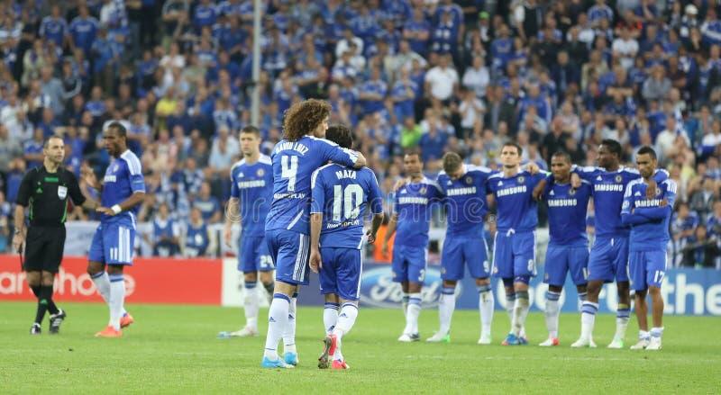 2012 kampioenenliga Definitieve Chelsea Training royalty-vrije stock afbeelding
