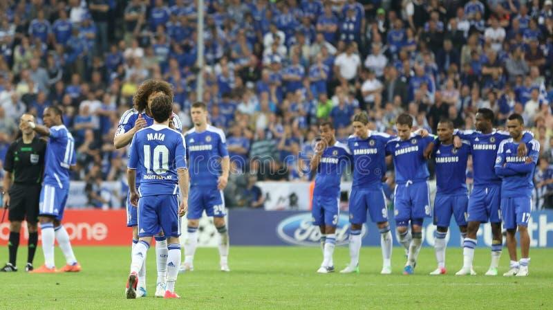 2012 kampioenenliga Definitieve Chelsea Training stock afbeelding
