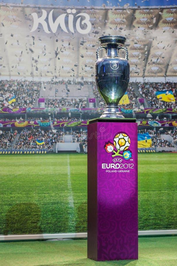 Kampioenschap van de Voetbal van de kop het Europese stock afbeeldingen