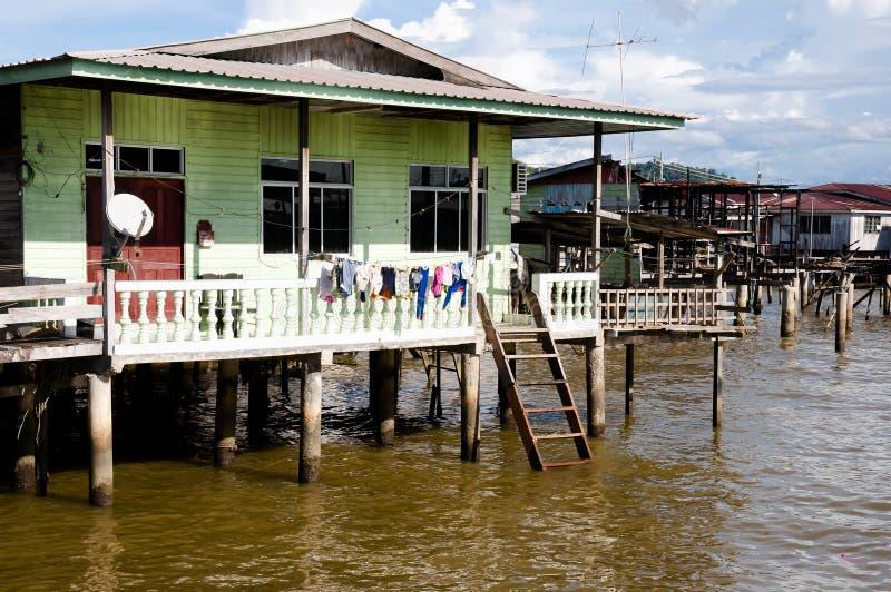 Kampong Ayer wioska Brunei - Bandar Seri Begawan - zdjęcie royalty free