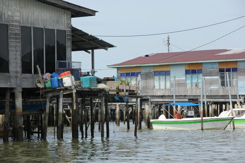 Kampong de Ayer fotografía de archivo libre de regalías