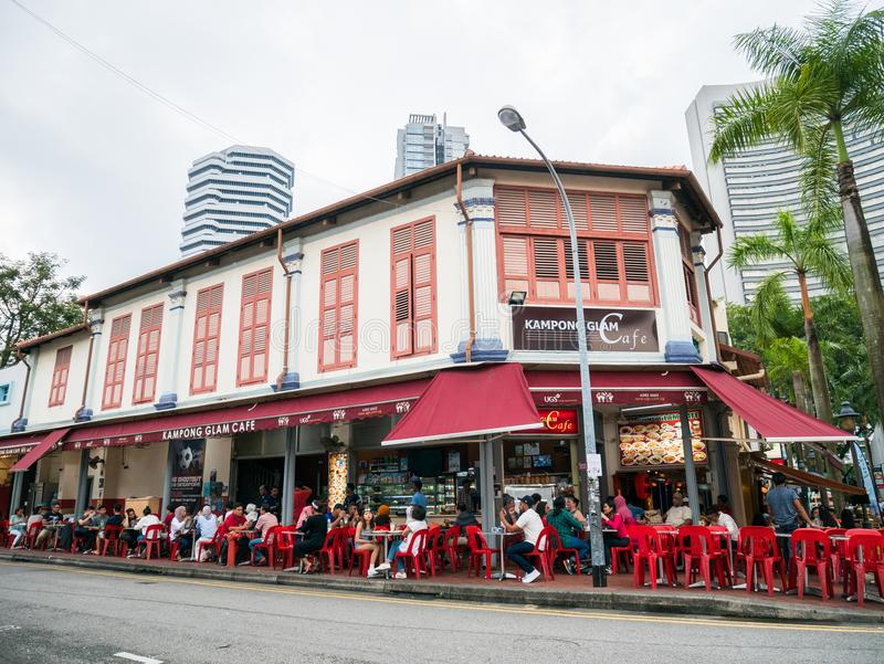 Kampong Glam Cafe in Arab Street Singapore stock photography