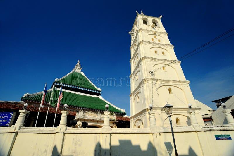 Kampung Kling Moschee (Masjid Kampung Kling) stockfotos