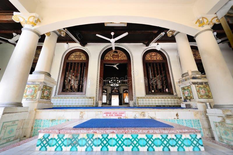Kampung Kling moské i Melaka malaysia royaltyfri bild