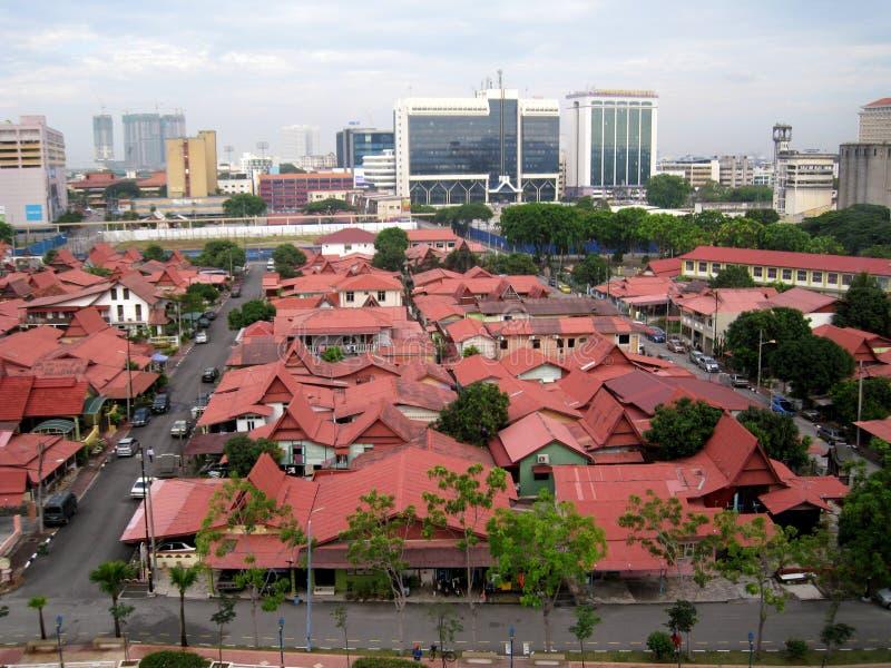 Kampung morten melaka, malaysia. A city view with red roof of Kampung morten melaka, malaysia royalty free stock photo