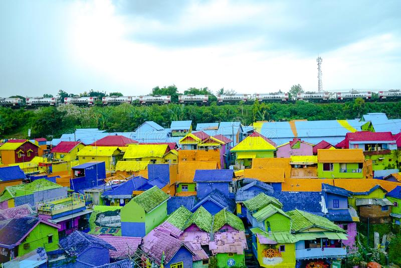 Kampung Warna Warni Μαλάνγκ στοκ φωτογραφίες με δικαίωμα ελεύθερης χρήσης