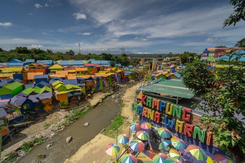 Kampung Warna Warni Colorful Village Jodipan Tridi Malang Jawa TImur East Java Malang stock images