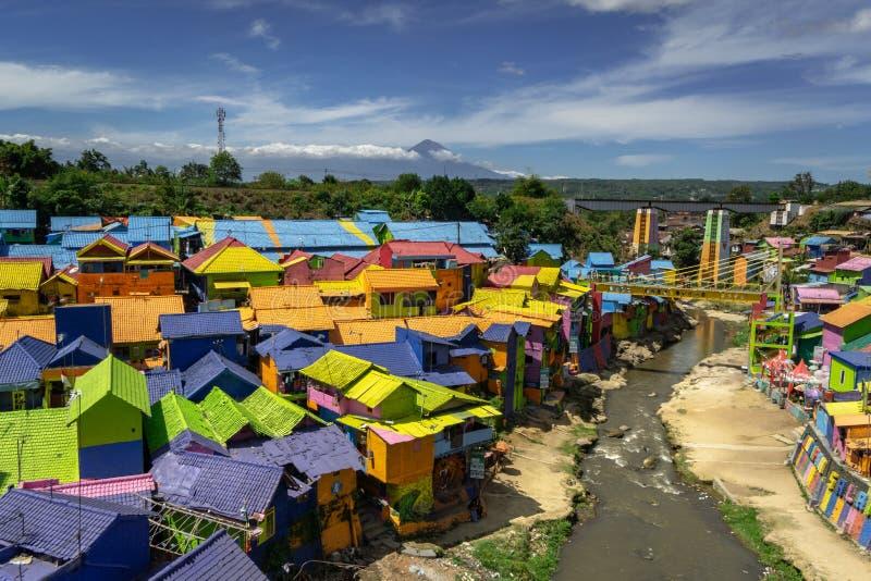 Kampung Warna Warni Village coloré Jodipan Tridi Malang Jawa TImur Est Java Malang images stock