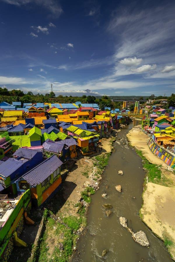 Kampung Warna Warni Village coloré Jodipan Tridi Malang Jawa TImur Est Java Malang photographie stock