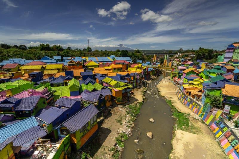 Kampung Warna Warni Village coloré Jodipan Tridi Malang Jawa TImur Est Java Malang photos libres de droits