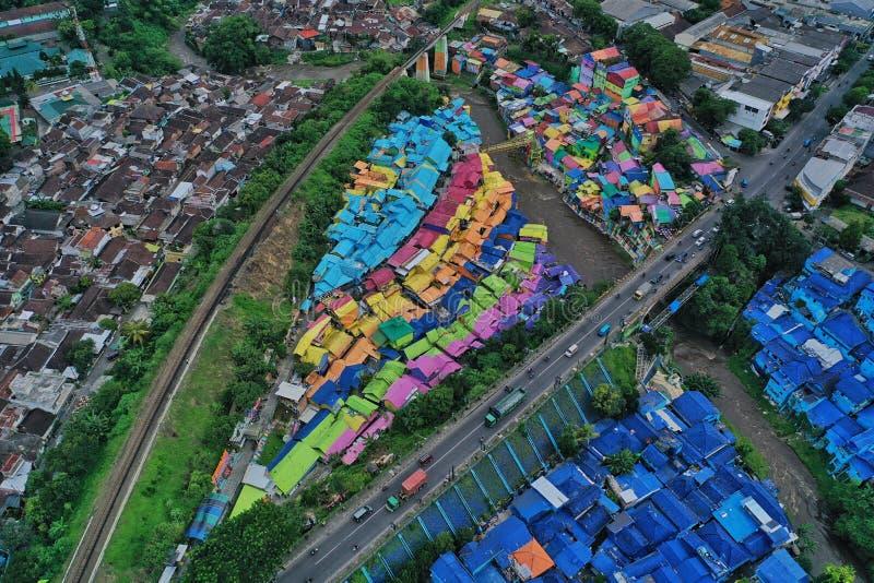 Kampung Wisata Jodipan royaltyfria foton